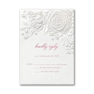 Floral Bouquet on White Response Card