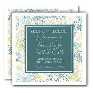 Floral Bunch Modern Save the Date Card Icon
