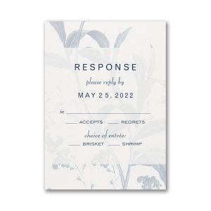 Floral Elegance Layered Pocket Response Card