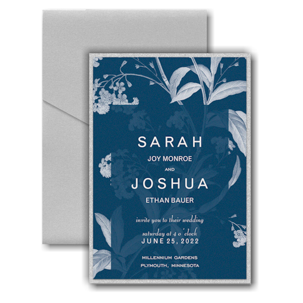 Floral Elegance Layered Pocket Wedding Invitation Icon