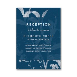 Floral Elegance Layered Reception Card