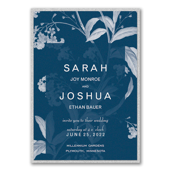 Floral Elegance Layered Wedding Invitation