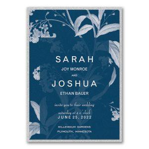 Floral Elegance Layered Wedding Invitation Icon