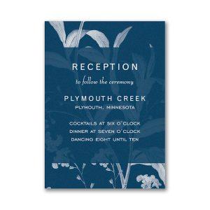 Floral Elegance Pocket Reception Card