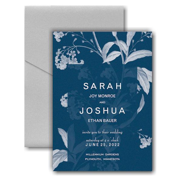 Floral Elegance Pocket Wedding Invitation Icon