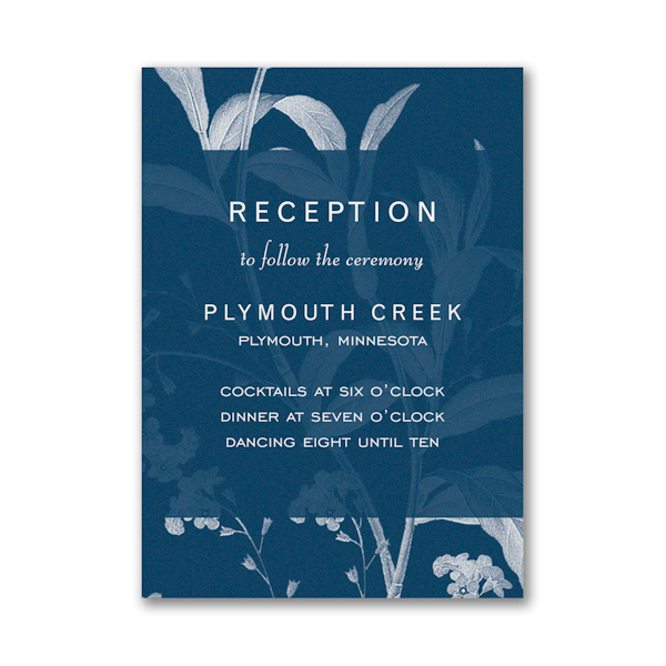 Floral Elegance Reception Card