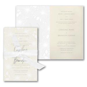 Floral Fancy in Ecru Wedding Invitation