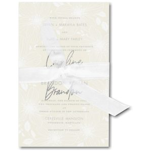 Floral Fancy in Ecru Wedding Invitation Icon
