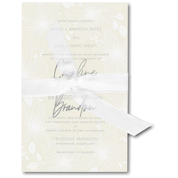 Floral Fancy in Ecru Wedding Invitation Icon