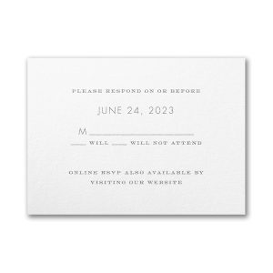 Floral Fancy in White Response Card