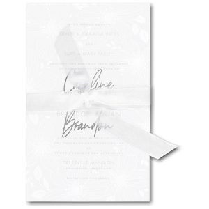 Floral Fancy in White Wedding Invitation Icon