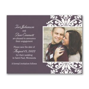 Floral Frame Save the Date Magnet Icon