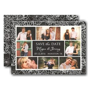 Floral Framed in Photo Save the Date Card Icon