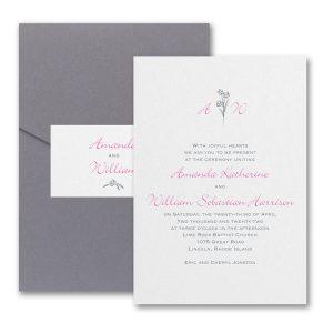 Floral Monogram Pocket Wedding Invitation Icon
