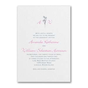 Floral Monogram Wedding Invitation Icon