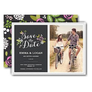 Floral Slate Save the Date Card Icon