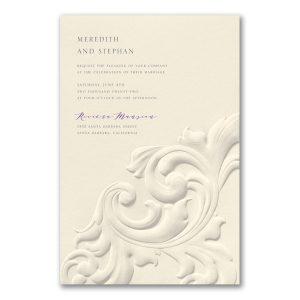 Flourish Impression on Ecru Wedding Invitation Icon
