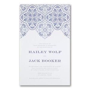 Flourish Inspiration in Bright White Wedding Invitation Icon
