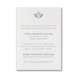 Flourish Inspiration in Pearl White Reception Card