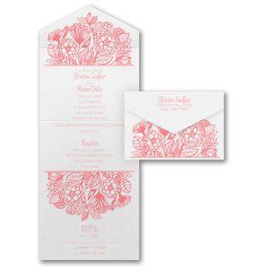 Flower Dreams Seal 'n Send Wedding Invitation Icon