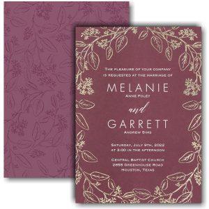 Flower-Patterned Romance Wedding Invitation Icon