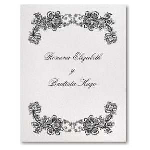 Flower and Lace Wedding Invitation Icon