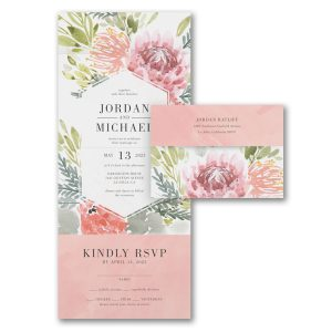 Flowered Surround Seal 'n Send Wedding Invitation Icon