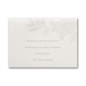 Flowers on Shimmer Reception Card