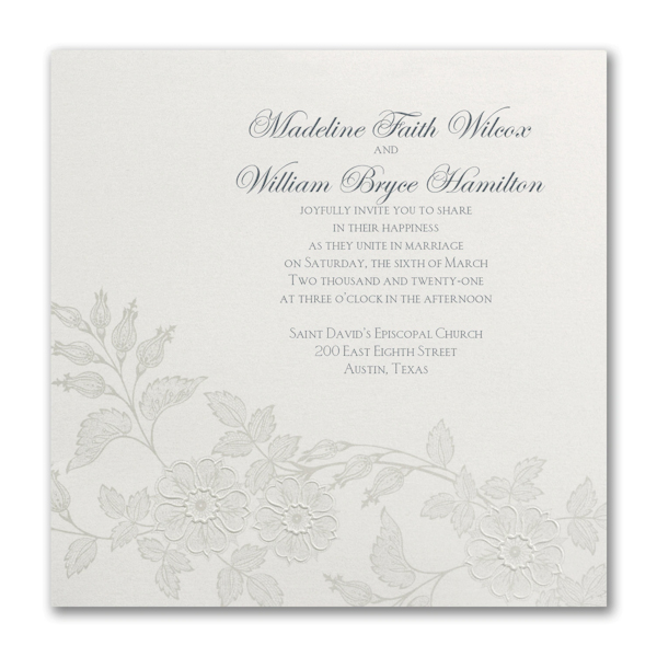 Flowers on Shimmer Wedding Invitation Icon