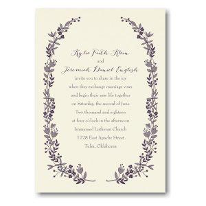 Flowery Frame in Ecru Wedding Invitation Icon