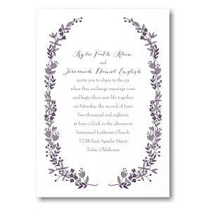 Flowery Frame in White Wedding Invitation Icon