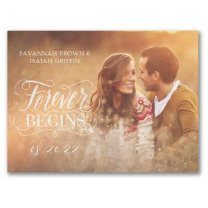Forever Begins Save the Date Card Icon