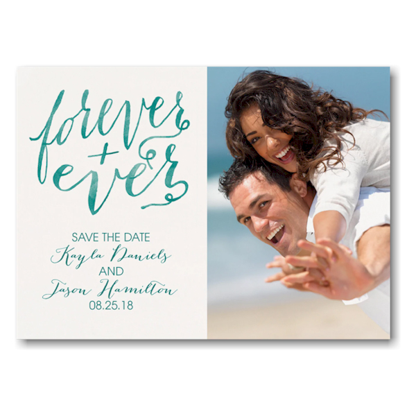 Forever and Ever Save the Date Postcard Icon