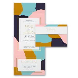 Fragments of Color Seal 'n Send Wedding Invitation Icon