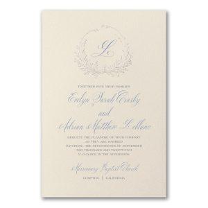 Framed Monogram on Ecru Wedding Invitation Icon