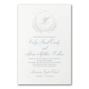 Framed Monogram on White Wedding Invitation Icon