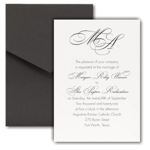French Expressions Pocket Wedding Invitation Icon