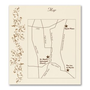 French Floret Layered Pocket Direction Card