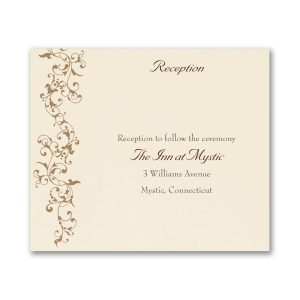 French Floret Layered Pocket Reception Card