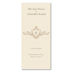 French Floret Wedding Program Icon