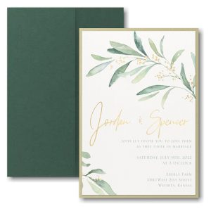 Fresh Daydream Layered Pocket Wedding Invitation Icon