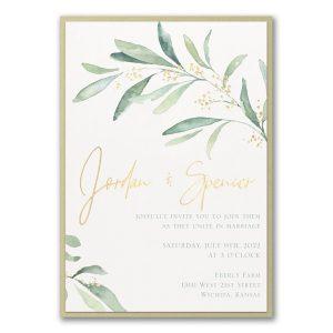 Fresh Daydream Layered Wedding Invitation Icon
