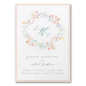 Fresh Monogram Layered Wedding Invitation Icon