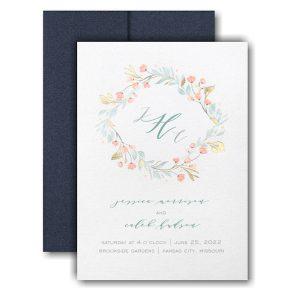 Fresh Monogram Pocket Wedding Invitation Icon