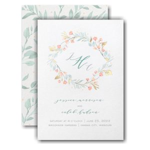 Fresh Monogram Wedding Invitation Icon