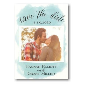 Fresh Watercolor Wash Photo Save the Date Card Icon
