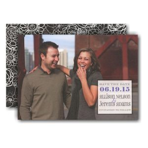 Full Photo Simple Box Save the Date Card Icon