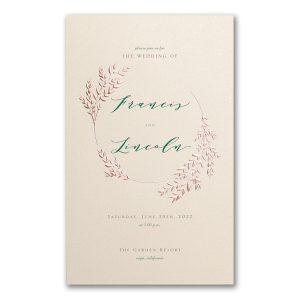 Garland Opulence in Ecru Wedding Invitation Icon