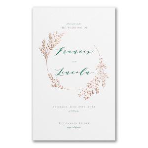 Garland Opulence in White Wedding Invitation Icon