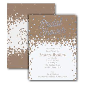 Geo Shower Bridal Shower Invitation Icon